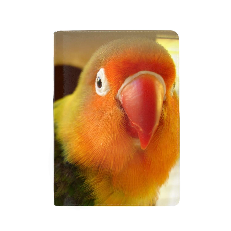 Leather Passport Holder Wallet Cover Case RFID Blocking Travel Wallet Parrot Eyes