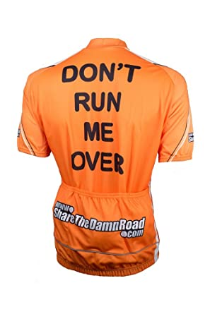 Amazon.com  Don t Run Me Over 4.0 Short Sleeve Road Cycling Jersey ... 9f9fb286f