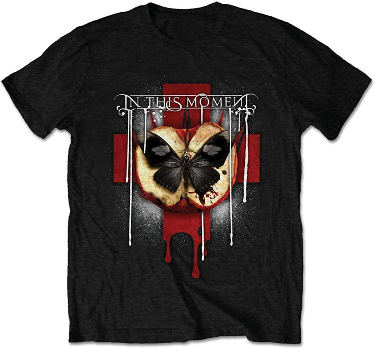 In This Moment Men's Rotten Apple Slim Fit T-Shirt Black