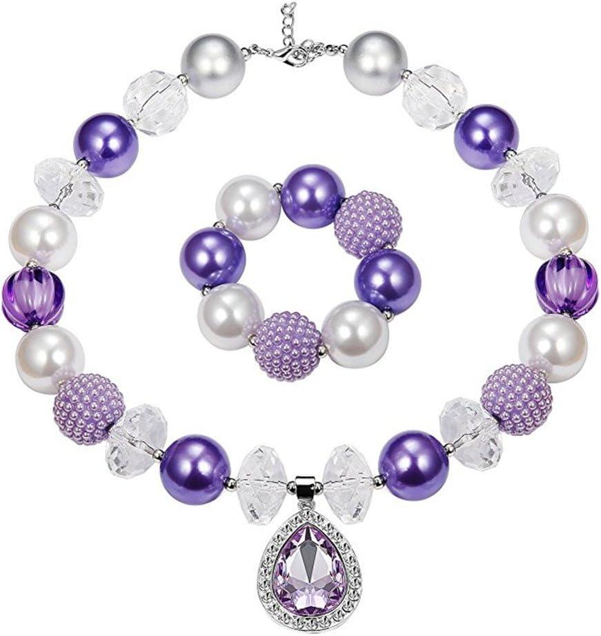 Silver Glitter Chunky Bubblegum Necklace
