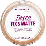 Rimmel Insta Fix & Matte Setting Powder, Translucent, 0.28 Ounce