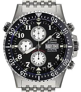 Xezo Air Commando Divers,Pilots Swiss Automatic Valjoux 7750 Chronograph Watch, Anti-Reflective Sapphire
