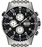 Xezo Air Commando Divers, Pilots Swiss Automatic Valjoux 7750 Chronograph Watch, Anti-Reflective Sapphire. 45mm Diameter