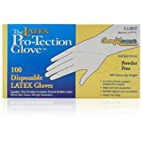 100 Disposable Latex Gloves, Powder Free Size X-large