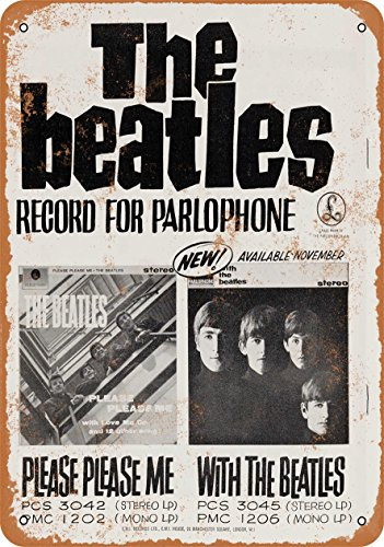 Wall-Color 7 x 10 Metal Sign - 1964 with The Beatles Album Released - Vintage Look