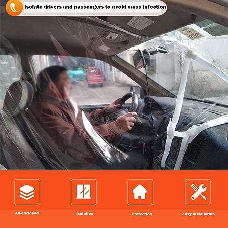 Amazon.es: 01 - Película de protección para coche o taxi, transparente, autoadhesivo, crea una separación y protege contra gérmenes, humo o saliva, 140 x 200 cm