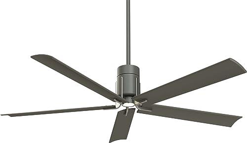 Minka-Aire F684L-GI BN, Clean 60 LED Ceiling Fan, Grey Iron Brushed Nickel Finish