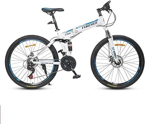 XMIMI Bicicleta de montaña Plegable Bicicleta para Adultos de una ...