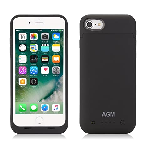AGM iPhone 7 carcasa batería de 4500 mAh Power Case batería ...