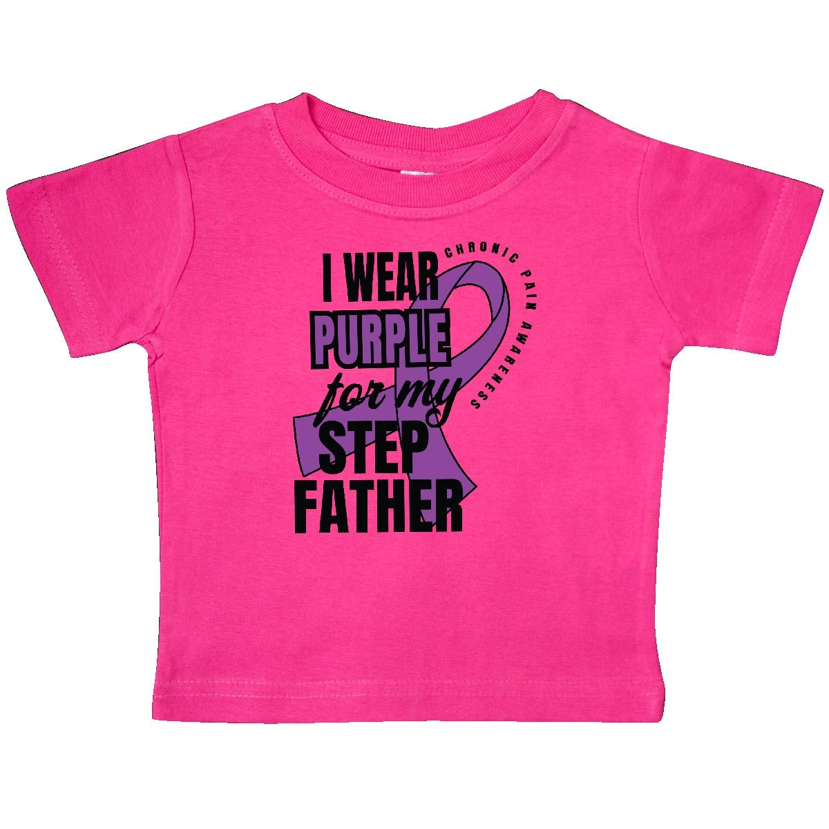 inktastic Chronic Pain I Wear Purple for My Step Father Baby T-Shirt