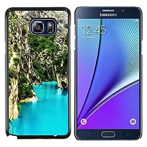 Blue Lagoon Montaña- Metal de aluminio y de plástico duro Caja del teléfono - Negro - Samsung Galaxy Note5 / N920