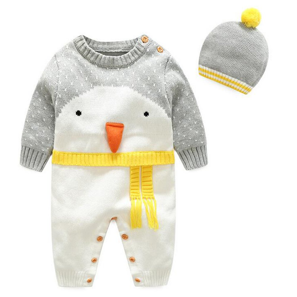 hibote Xmas Cartoon Pattern O-neck Infantile Knitted Sweater Pagliaccetto B171008BKR5-X