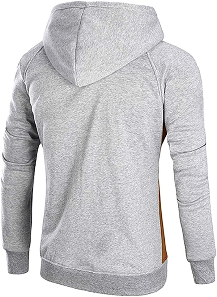 CNSTORE Color Blocking Drawstring Pullover Hoodie