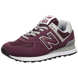 New Balance Women's 574v2 Evergreen Lifestyle Sneaker, Burgundy with White, 8.5 W US
