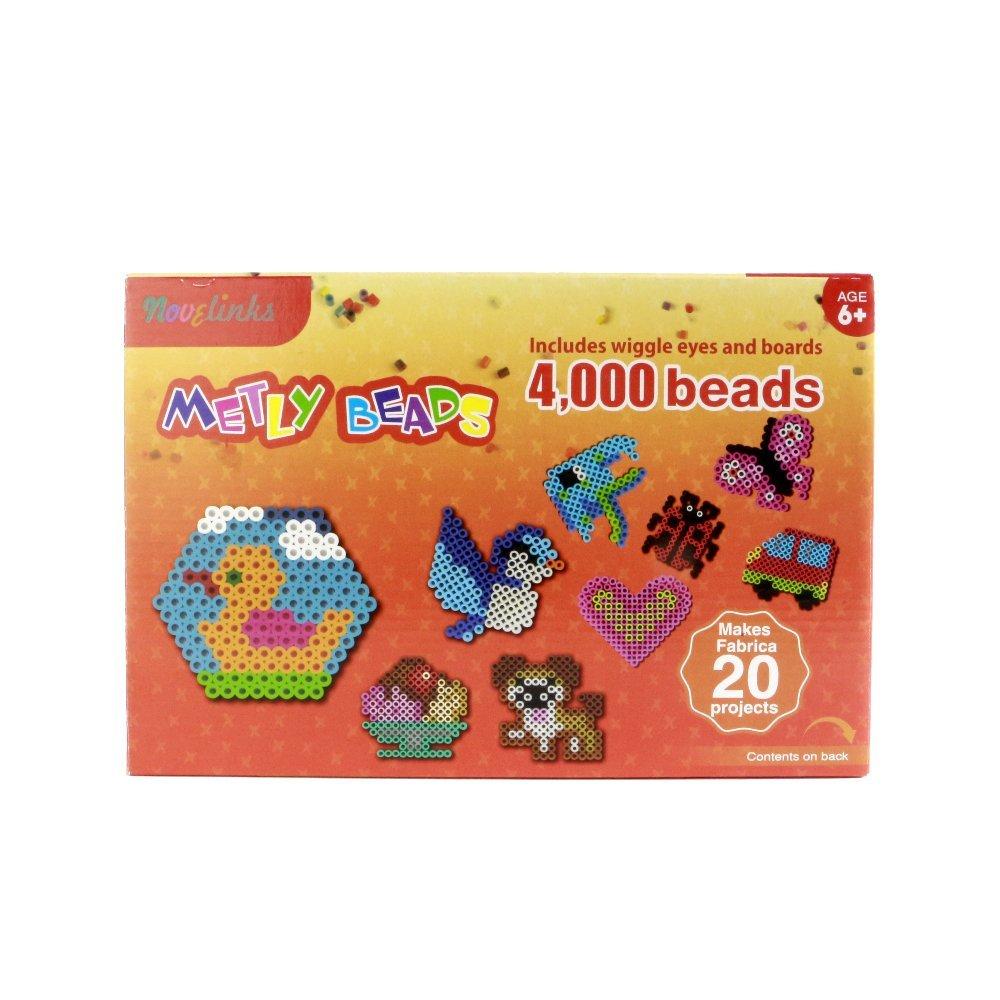 Novelinks Fused Beads 4000 Count Gift Box - Melt Bead Activity Kit Multi-Mix Colors