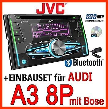 Audi A3 8p For Bose Jvc Kw R910bt 2din Usb Bluetooth Amazoncouk