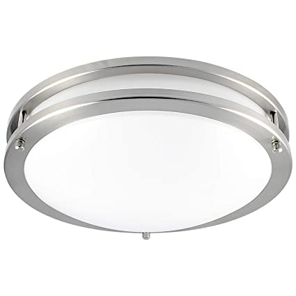 new product fe469 a19f4 Luxrite LED Flush Mount Ceiling Light, 12 Inch, Dimmable, 5000K Bright  White, 1380 Lumens, 18W Ceiling Light Fixture, Energy Star & ETL - Perfect  for ...