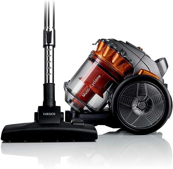 HAEGER MAX CYCLON - Aspirador sin Bolsa con 700W de Potencia, Capacidad de 3L - Filtro de plástico con Sistema de filtrado multiciclónico, Tubo Flexible com rotación de 360º.: Amazon.es: Hogar