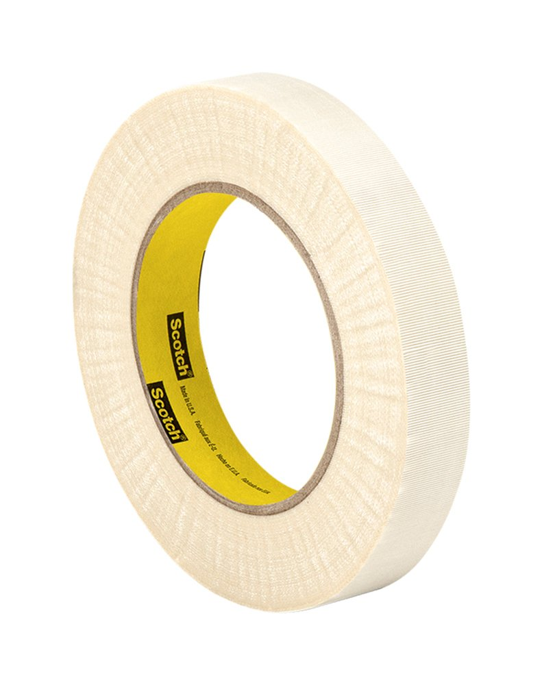 3M Glass Cloth Electrical Tape 79, 1'' width x 60yd length (1 roll), White