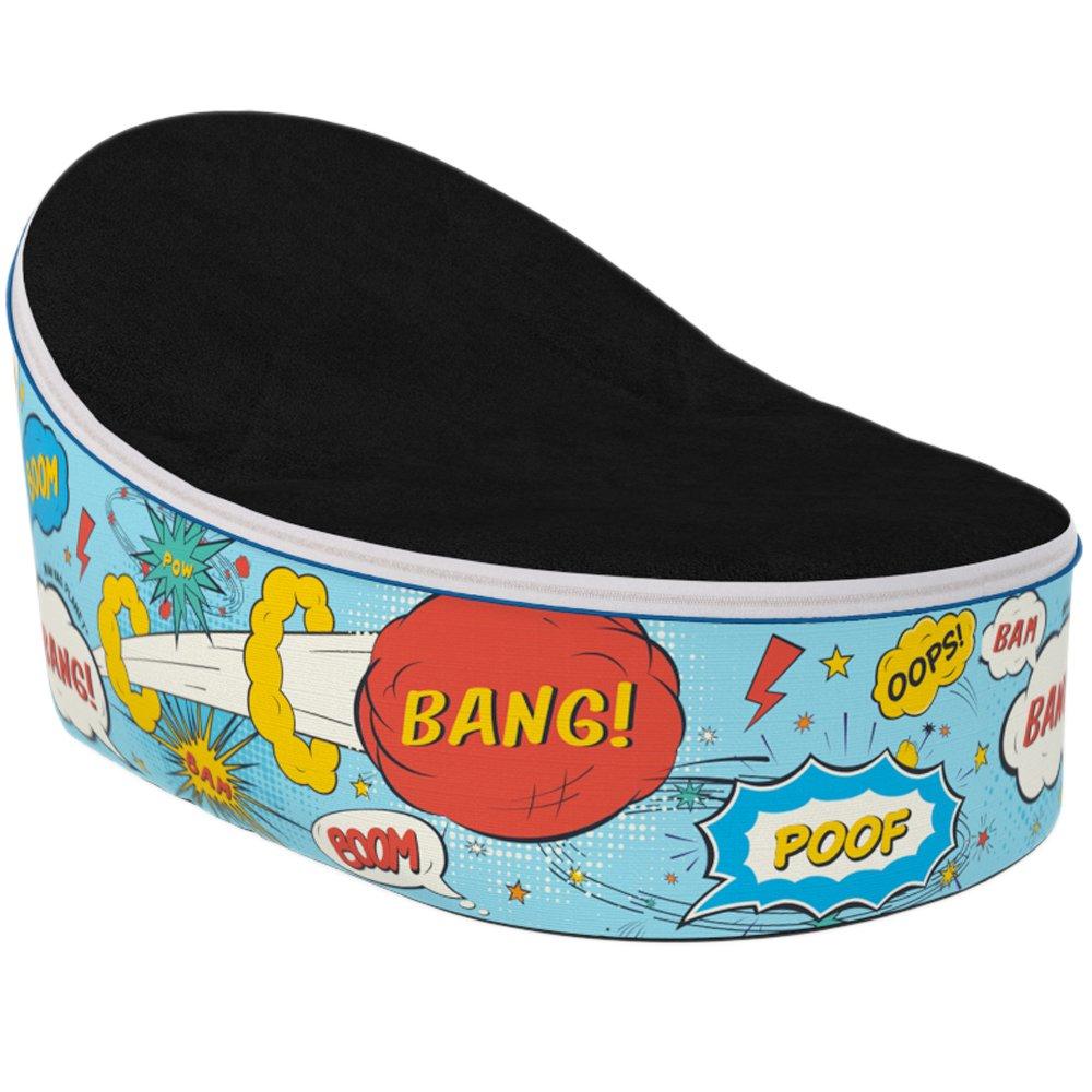Color azul y blanco de punta de bola Bang Pow de la haba bolsa de ...