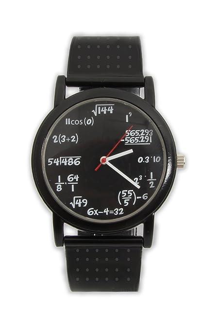 Divertido matemáticas reloj de pulsera con fórmulas y ecuaciones