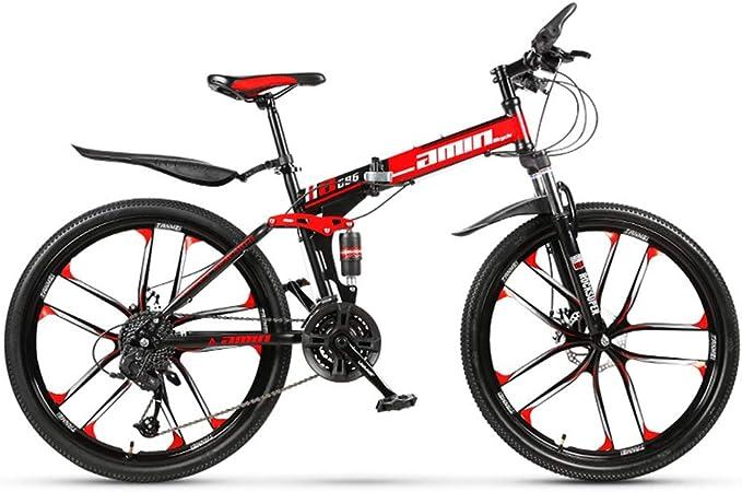 LISI Bicicleta de montaña 26 Pulgadas Todoterreno ATV Velocidad de 30 Motos de Nieve 4.0 neumático Grande Rueda Ancha 10 Cuchillo Rueda,Red: Amazon.es: Hogar