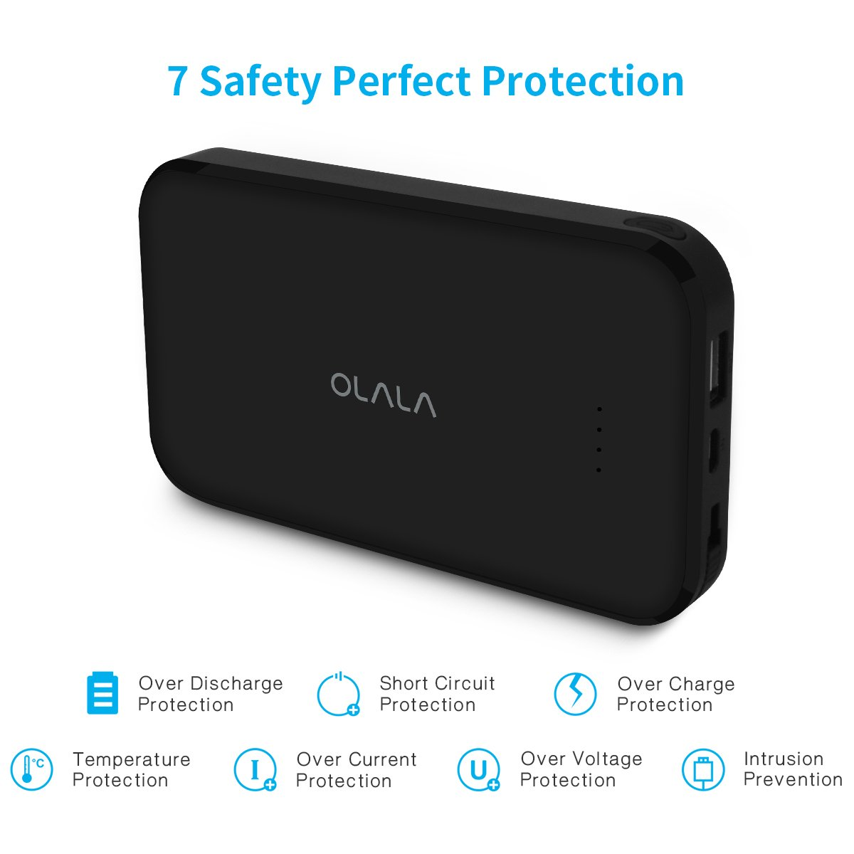 Apple Mfi Certified Olala S100 I 13000mah Portable Mobile Phone And Ipod Battery Charger Circuit Power Bank Built In Lightning Cable Dual Output Iphone X 8 Plus Ipad Samsung Black Cell Phones Accessories