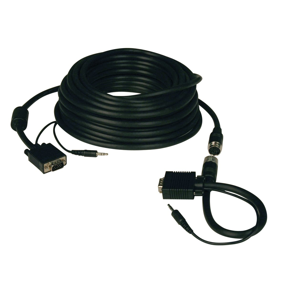 Tripp Lite High Resolution SVGA / VGA Monitor Easy Pull Cable with Audio and RGB coax (HD15 M/M) 100-ft.(P504-100-EZ) by Tripp Lite