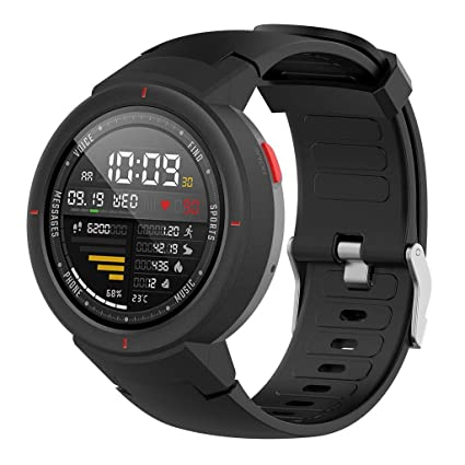 Amazon.com: Cywulin Silicone Sports Band for Amazfit Verge ...