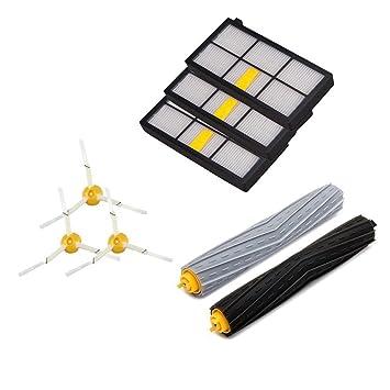 Amoy Kit de cepillos de filtros para iRobot Roomba series 800 y 900 980 966 960 865 870 875 876 kit de recambio: Amazon.es: Hogar