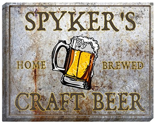 spykers-craft-beer-stretched-canvas-sign-24-x-30