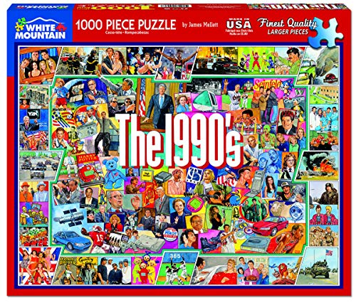 Puzzle Adult (White Mountain Puzzles - The 1990s - 1,000 Piece Jigsaw Puzzle)