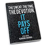 The Sweat The Time The Devotion Running Journal | Paper Journal by Gone For a Run | Black