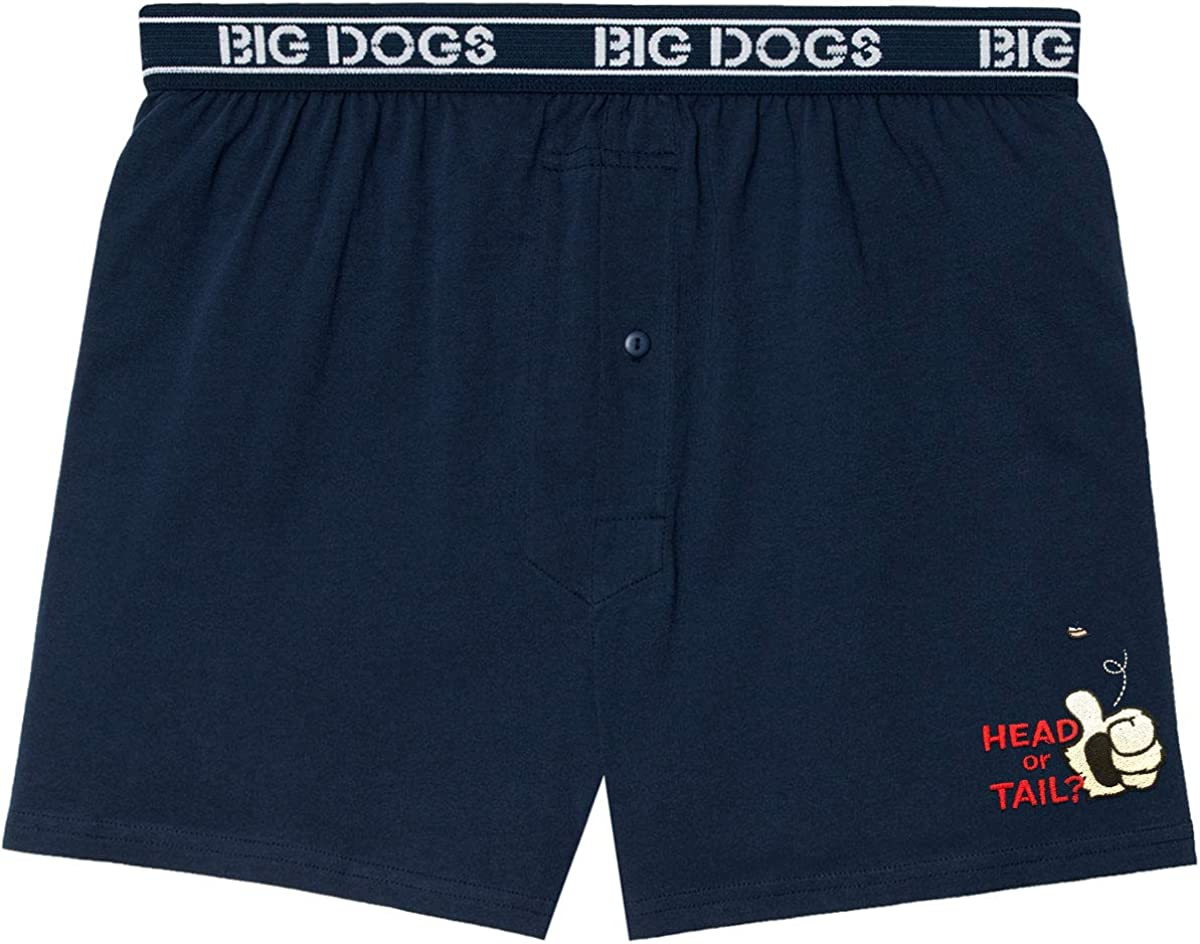 Big Dogs Head or Tail Embroidered Knit Boxers