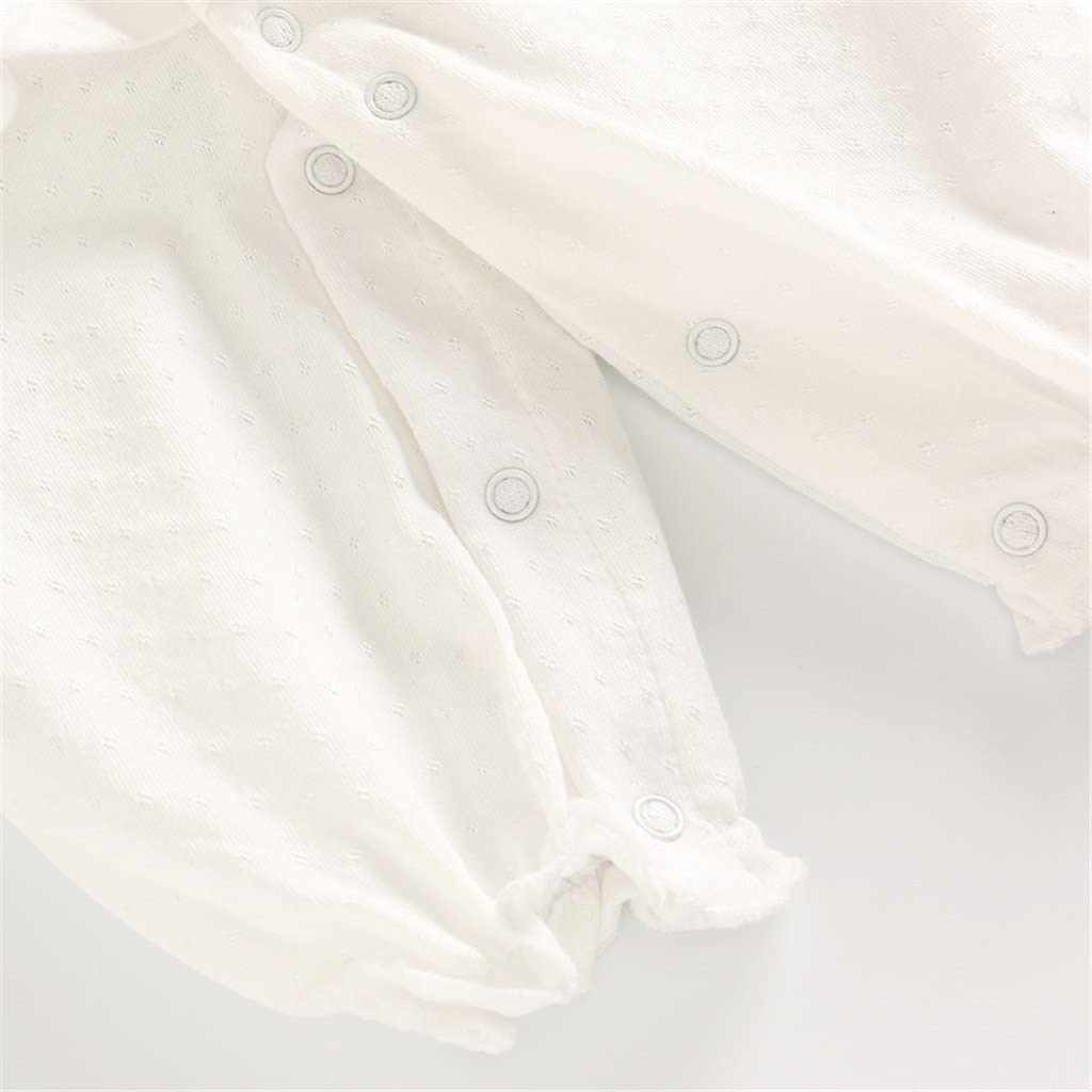 0-6 Mesi Bambina Pagliaccetto Neonata Tutina con Gonna Cotone Jumpsuit Manica Lunga Body Tuta Infantile Outfits