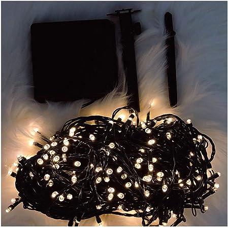 WRHN Luz Solar jardín, Luz Decorativa Solar, 500LED 52M Impermeable Iluminación de iluminación Nocturna Decoración, Luz de Fiesta, para jardín, Cumpleaños, Boda: Amazon.es: Hogar