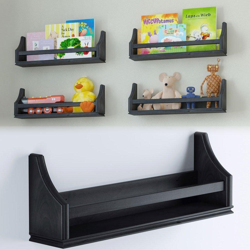Nursery Wall Storage: Amazon.com: Wallniture Nursery Baby Bookshelf Tray