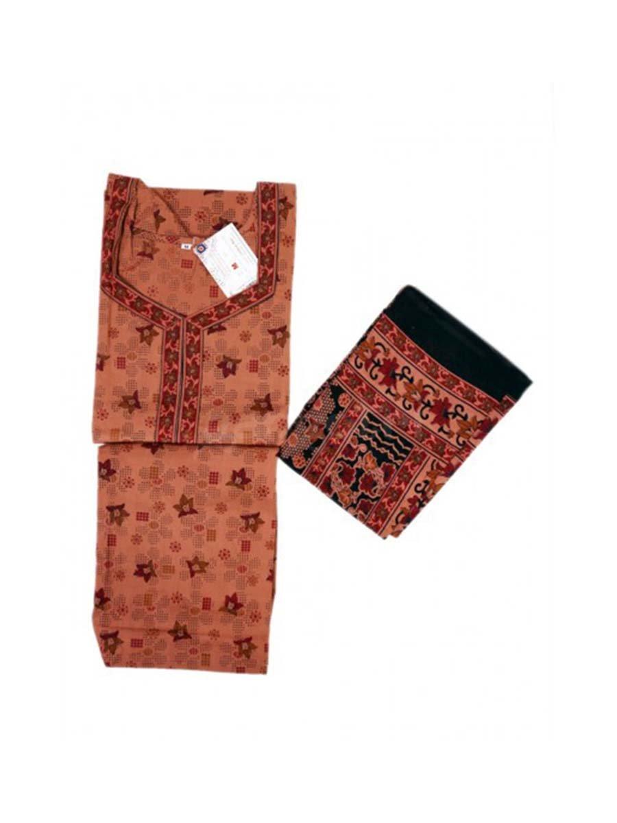 Girls Suits Cotton Printed Indian Handicrafts Export G43015M-Purple-XL
