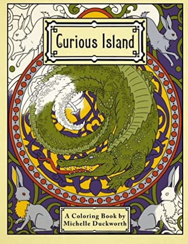 Curious Island: a coloring book