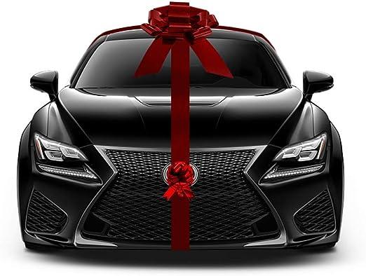 Gigante rojo metálico coche lazo coche nuevo Kit de regalo gran decoración de Navidad Set: Amazon.es: Jardín