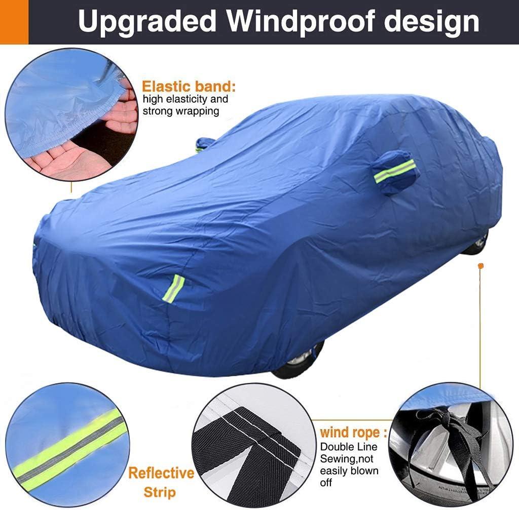 OOFAYZYJ B/âche pour Voiture,Adapt/é /à Chevrolet Camaro Housse de Protection Auto Windproof Imperm/éable Dustproof Scratchproof Anti-UV Couverture de Voiture Compl/ète
