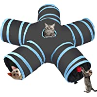 Cozy zone Cat Tunnel -5 way,Collapsible Pet Play Tunnel Tube Toy,a Soft Ball Toy for - Cat,Puppy, Kitty,Rabbit,ferret…