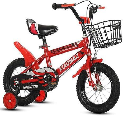 """Dsrgwe Bicicleta niño, Bicicleta for niños de 2-8 años, la Bicicleta de niño de la Muchacha del niño, 12"""", 14"""", 16 Bicicletas for niños, con Ruedas de Entrenamiento: Amazon.es: Deportes y aire libre"""