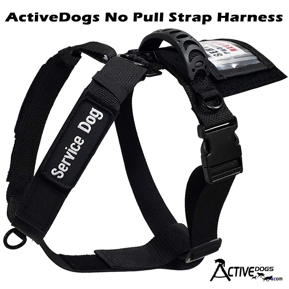 Activedogs No Pull Service Dog Strap Harness - Front Range w/Quick Release Buckle (Med/Large (Girth 22''-32'')) by Activedogs
