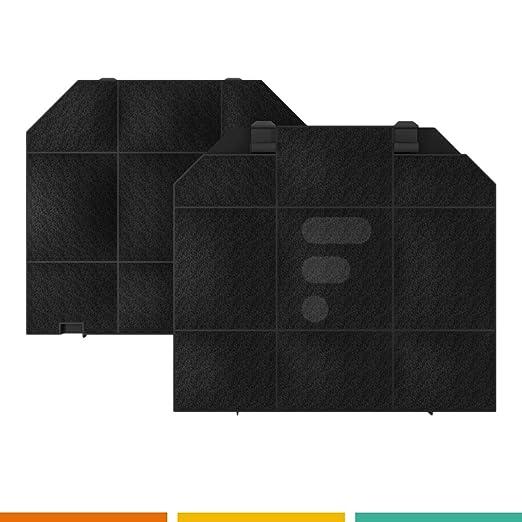 Fac FC01 - Filtro a carboni attivi per cappa da cucina - Compatibile con  Roblin 5403008 Electrolux EFF72 Smeg kitfc161 Franke 445934 Airlux AHACFL2  ...