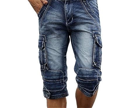 grand choix de 9974f 198ee Nutsima Men Cargo Shorts Bermuda Homme Male Shorts Washed ...