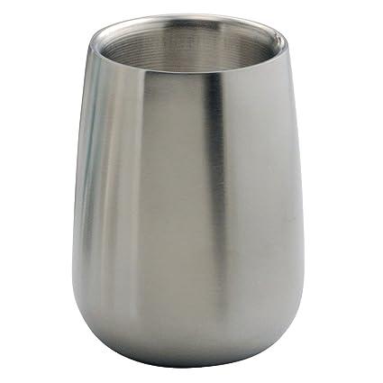 Bon InterDesign Nogu Bath, Tumbler Cup For Bathroom Vanity Countertops    Brushed Stainless Steel
