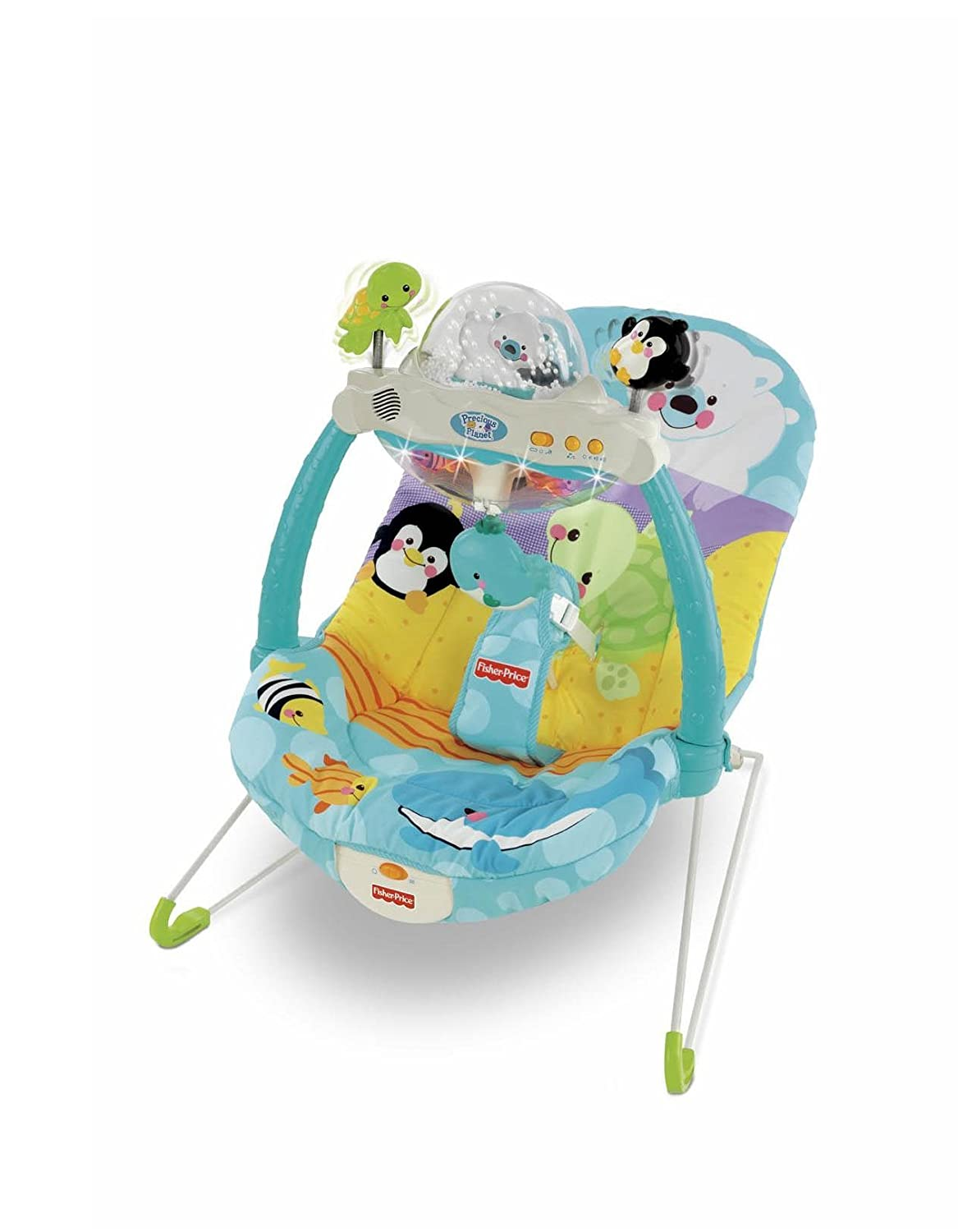 Fisher price precious planet high chair - Amazon Com Fisher Price Precious Planet Snow Globe And Lights Bouncer Discontinued By Manufacturer Baby