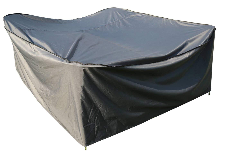 LxPxH Grigio Copertura Protettiva Mobilia da Giardino e Patio Forte e Durevole Premium SORARA 255 x 255 x 90 cm per Tavola Quadrato   Resistente allAcqua
