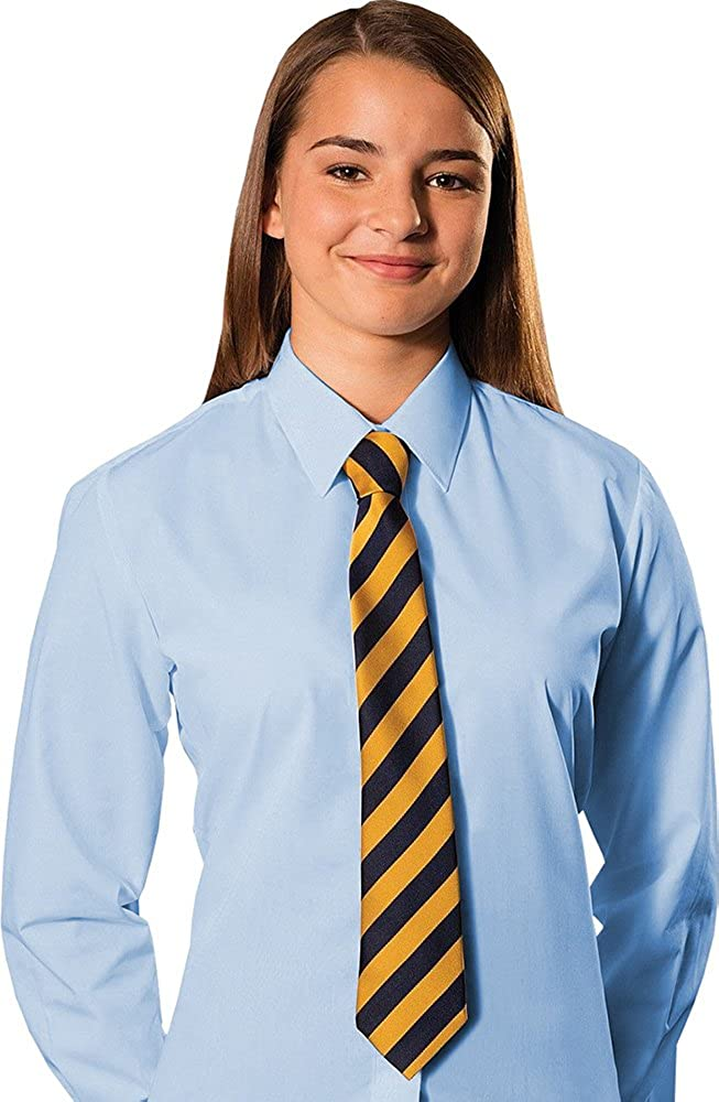 DON Last Man Stands Girls School Shirt Uniform Long Sleeve White Sky Blue Twin Pack Age 2-18 Years **New